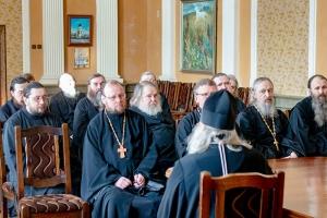 Владыка Тихон провел духовную беседу с братией Свято-Успенского монастыря