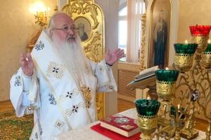 Архипастырь совершил литургию в Неделю 7-ю по Пятидесятнице