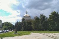 В Успенском (Михаило-Архангельском) соборе Орла схиархимандрит Илий (Ноздрин) совершил благодарственный молебен в честь завершения реставрации купола. 21 июля 2020 г.