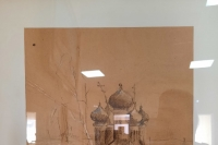 В Болхове открылась художественная выставка преподавателя православной гимназии-пансиона Геннадия Миночкина