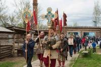 В день памяти Великомученика и Победоносца Георгия в «Знаменской богатырской заставе» прошел крестный ход. 6 мая 2021 г.