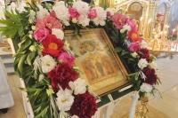 В канун праздника Вознесения Господня митрополит Орловский и Болховский Тихон совершил всенощное бдение в Богоявленском соборе Орла. 9 июня 2021 г.