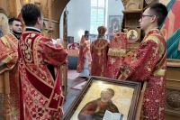 В день отдания праздника Пасхи митрополит Орловский и Болховский Тихон возглавил Литургию в монастыре во имя святого Кукши во Мценском районе. 9 июня 2021 г.