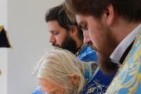 Митрополит Орловский и Болховский Тихон возглавил Литургию в храме в честь иконы Божией Матери «Спорительница хлебов» в подсобном хозяйстве «Орловский Колос» в Орловском районе. 25 сентября 2021 г.